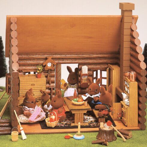 木製丸太小屋