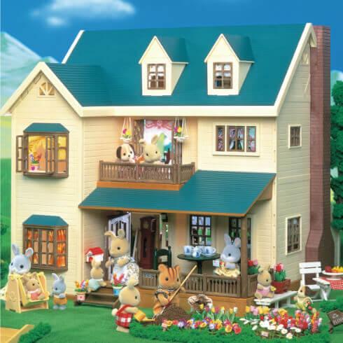 緑の丘の大きなお家