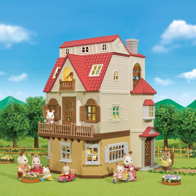 「はじめてのシルバニアファミリー」と「赤い屋根のお家」の組み合わせ1