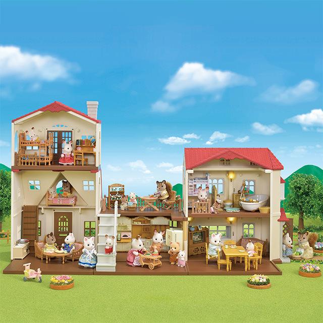 「はじめてのシルバニアファミリー」と「赤い屋根のお家」の組み合わせ3