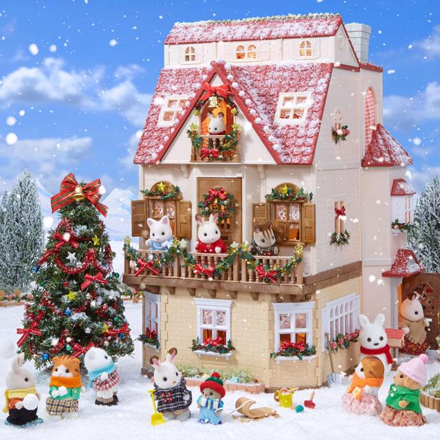 クリスマスの赤い屋根のお家シリーズ