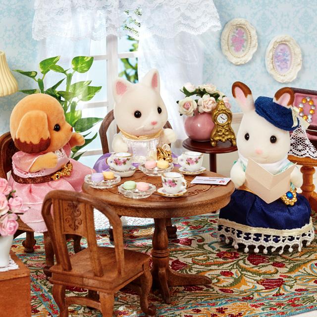 おしゃれなお姉さんのお部屋に集まって、秋のお茶会をはじめましょう♪