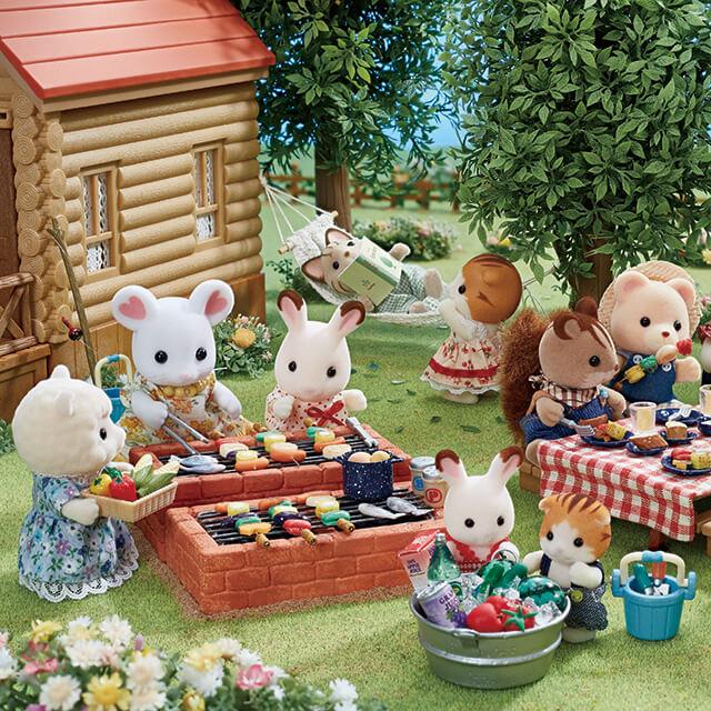 ログハウスでバーベキュー!みんなでワイワイ楽しいね♪