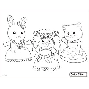 Coloring calico critters for Little critter coloring pages