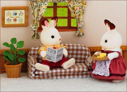 ショコラウサギのお父さん 家具セット - 1