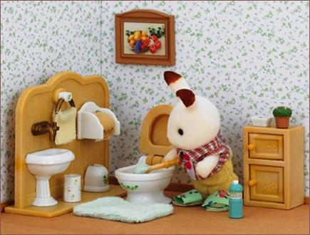 ショコラウサギの男の子  家具セット - 3