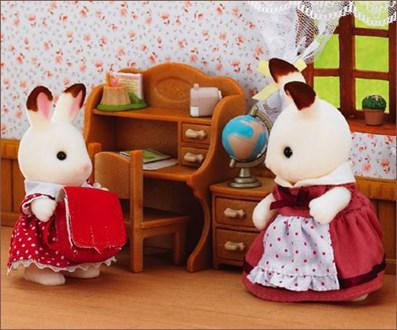 ショコラウサギの女の子  家具セット - 1