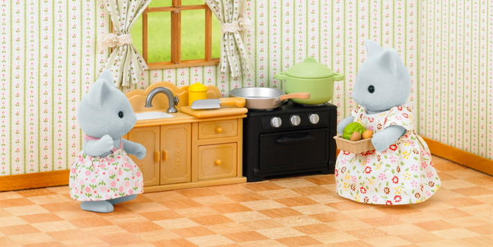 Home Catalog Country Kitchen Set With Cat Mother