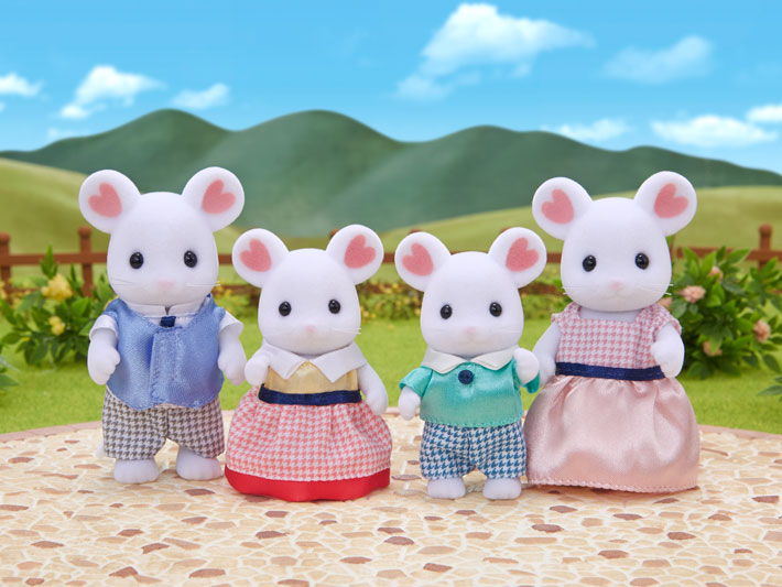 Marshmallow Mouse Family - 3