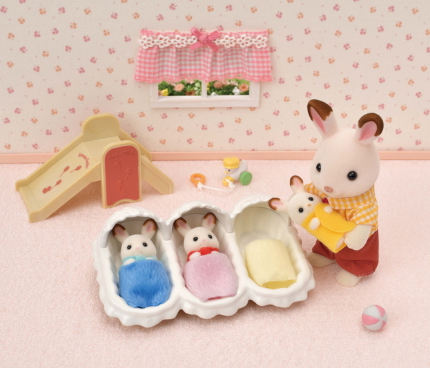 ショコラウサギのみつごちゃんお世話セット - 8