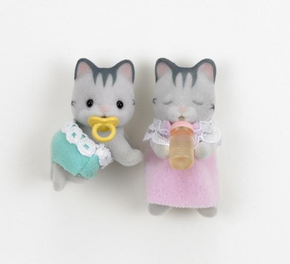 Gray Cat Twins - 3