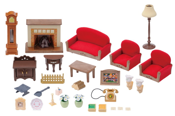 Luxury Living Room Set  7 Sylvanian Families