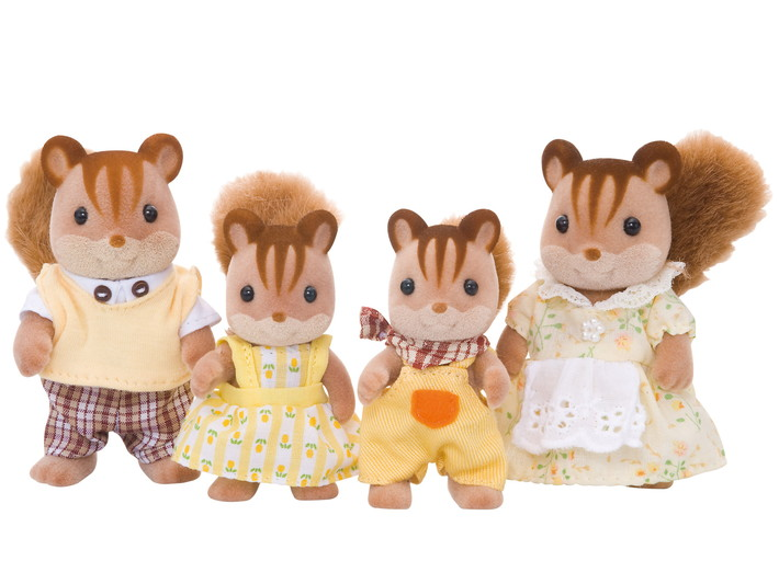 Walnuss Eichhörnchen: Familie Knacks - 6