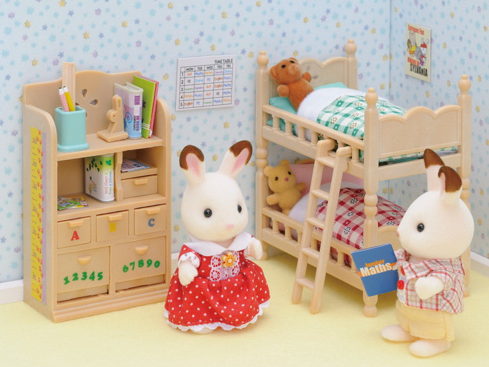 mobilier chambre enfants sylvanian families. Black Bedroom Furniture Sets. Home Design Ideas