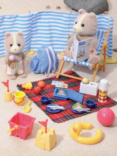 ein tag am strand sylvanian families. Black Bedroom Furniture Sets. Home Design Ideas