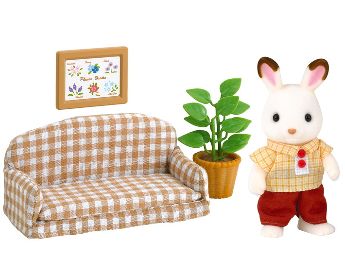 Schokoladenhasen Vater mit Sofa - 4