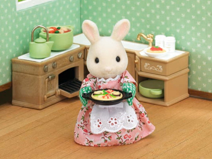 set ustensiles de cuisine sylvanian families. Black Bedroom Furniture Sets. Home Design Ideas