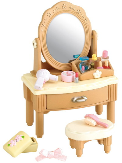 Girl 39 s dressing table sylvanian families for Sylvanian families beauty salon dressing table