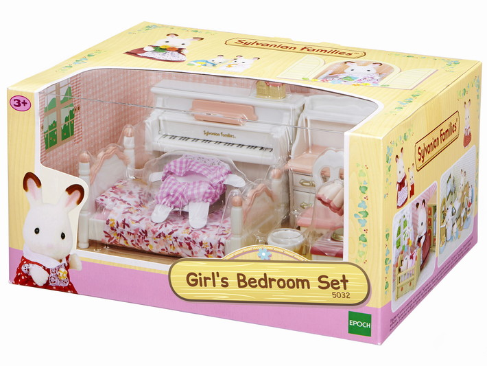 Girl 39 s bedroom set sylvanian families for Sylvanian chambre parents