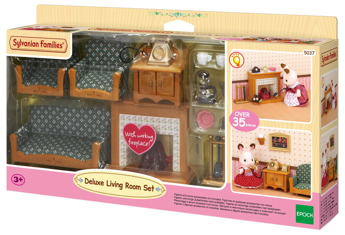 deluxe living room set sylvanian families. Black Bedroom Furniture Sets. Home Design Ideas