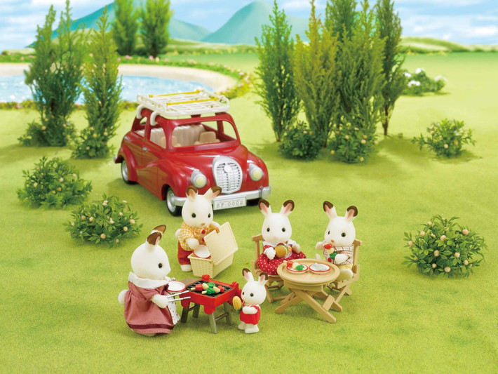 Roof Rack With Picnic Set Sylvanian Families