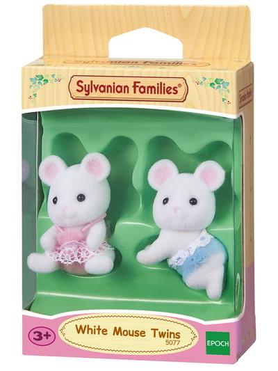 White Mouse Twin Babies - 4