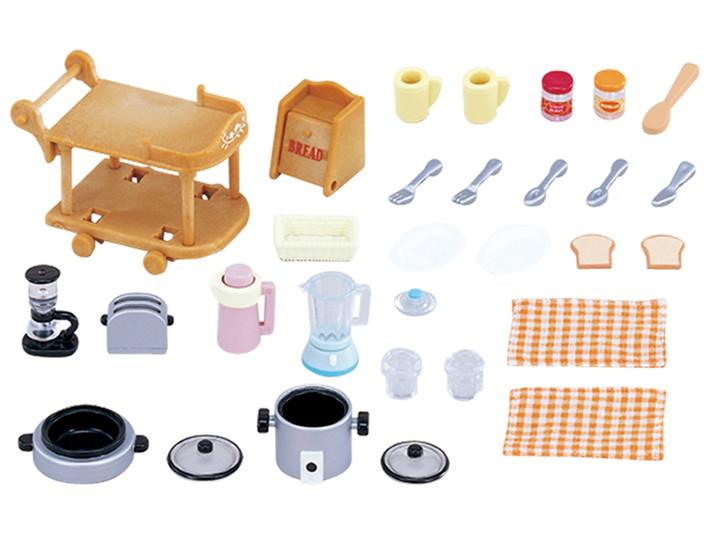 EP-5090 Bộ dụng cụ nhà bếp Sylvanians Families - phụ kiện đồ chơi búp bê chính hãng cao cấp