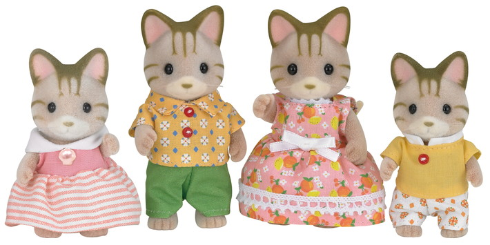 Striped Cat Family - 4