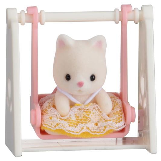Minibox: Katze auf Schaukel  - 3