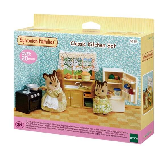 Classic kitchen set sylvanian families for Sylvanian classic furniture set
