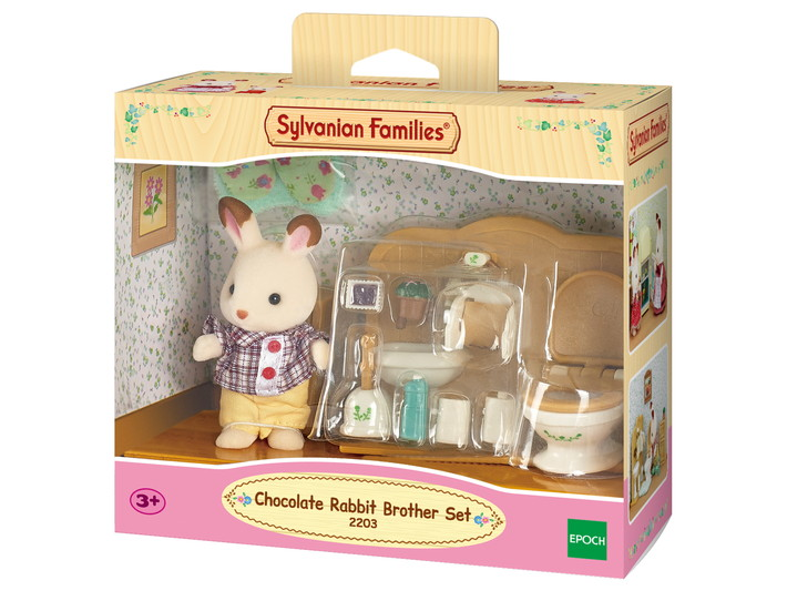 frere lapin chocolat toilettes sylvanian families. Black Bedroom Furniture Sets. Home Design Ideas