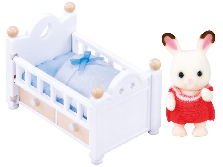 초콜릿 토끼 아기 & 침대 - 4
