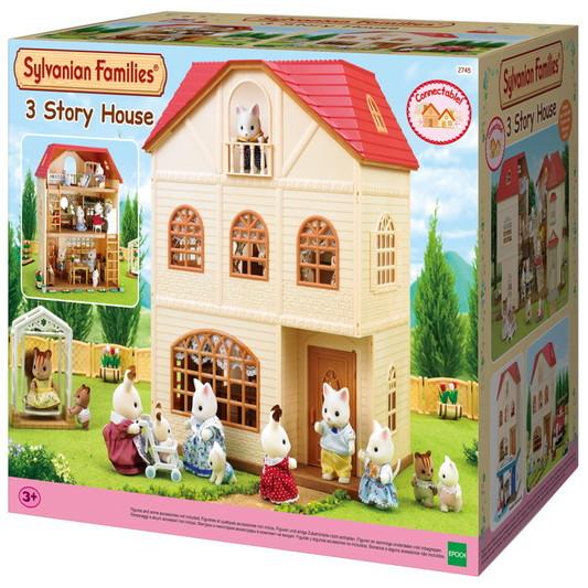 casa de 3 plantas cedro terraza sylvanian families