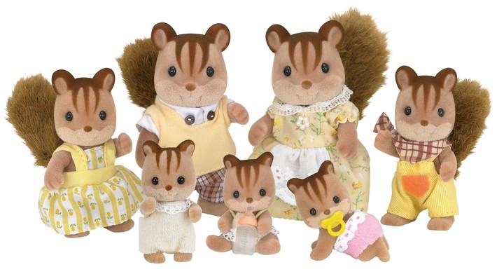 Famiglia scoiattoli manto chiaro - 6