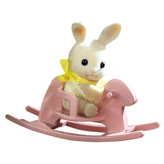 VALISETTE LAPIN CREME CHEVAL A BASCULE - 3