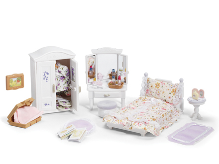 Girl 39 s lavender bedroom set calico critters Master bedroom set sylvanian